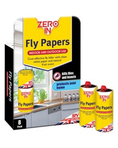 Zero In Fly Papers - Pack of 8
