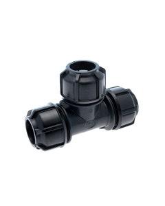 "Philmac Metric/Imperial Tee - Equal POL X POL 25mm/3/4"""