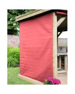 Forest Garden Premium 5.1m Oval Gazebo Curtains Terracotta - Set of 8