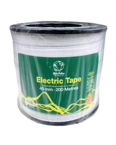 MVF Electric White Fence Tape - 40mm x 200m