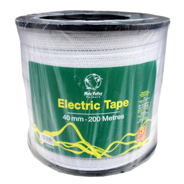 An image of MVF Electric White Fence Tape - 40mm x 200m
