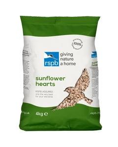 RSPB Sunflower Hearts Wild Bird Food – 4kg