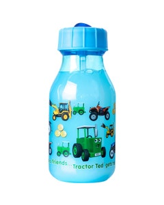 Tractor Ted Water Bottle - Light Blue