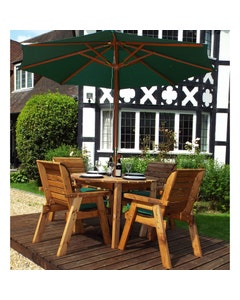 Charles Taylor Round Table and Chair Set - Green 4 Seater