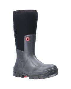 Dunlop Adults Snugboot Pioneer Slip On Wellington Boots - Black