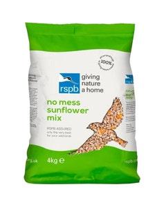 RSPB No Mess Sunflower Mix Wild Bird Food – 4kg