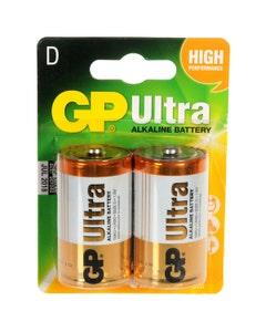 GP Ultra D.LR20 Alkaline Batteries - 2 Pack