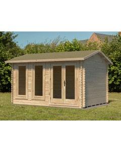 Forest Garden Chiltern S/G Log Cabin 4m x 3m 24kg F/R N/U - Unassembled