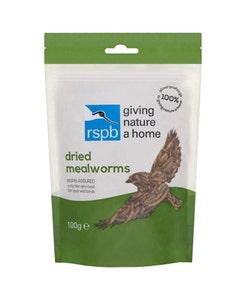RSPB Dried Mealworms Wild Bird Food - 100g