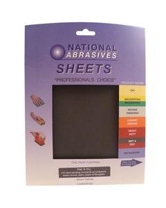 National Abrasives Wet & Dry Sandpaper - Pack Of 4 Medium