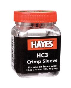 Hayes Crimp Sleeves 3.15mm (Pack of 50)