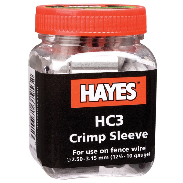 An image of Hayes Crimp Sleeves 3.15mm (Pack of 50)