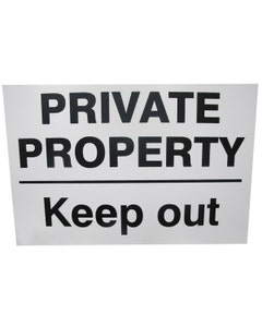 Private Property Keep Out -  360mm x 240mm