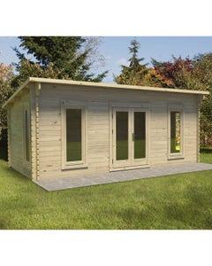 Forest Garden Arley D/G Log Cabin 6m x 3m 24kg F/R N/U - Unassembled