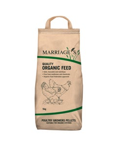 Marriages Organic Poultry Growers Pellets - 5kg