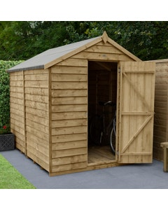 Forest Garden Overlap Pressure Treated Apex Shed 8ft x 6ft (No Window) - Unassembled