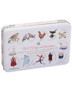 Gardiners 12 Days Of Christmas Vanilla Fudge And Butter Toffee Tin - 500g