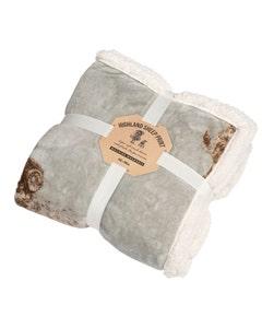 Mole Valley Super Soft Sherpa Throw - Sheep