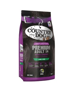 Country Dog Premium Hypoallergenic Adult 1+ Lamb and Rice - 2kg