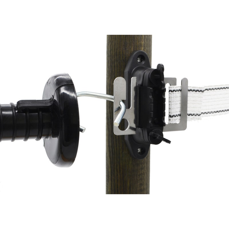 An image of Mole Electric Fencing Tape Gate Insulators - Pack of 2