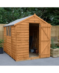 Forest Garden Overlap Dip Treated Apex Shed 8ft x 6ft - Unassembled