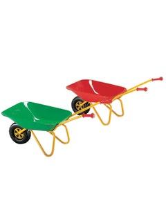 Metal Toy Wheelbarrow - Green