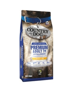 Country Dog Premium Hypoallergenic Adult 7+ Chicken and Rice - 15kg