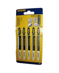 Irwin Jigsaw T101B Wood Cutting Blades 100mm - 5 Pack
