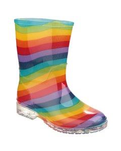Cotswold Children's PVC Wellington Boots - Rainbow