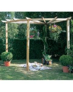 Forest Garden Radial Pergola 90° - Unassembled