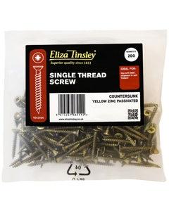 Eliza Tinsley Single Thread Wood Screw 4mm x 40mm - Pack of 200