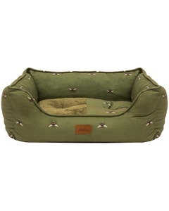 Joules Bee Print Box Pet Bed - Small