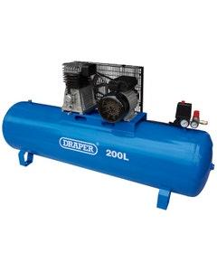 Draper 200L Stationary Belt Driven Air Compressor - 2.2kW