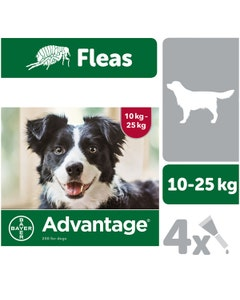 Advantage 250 Spot-On Solution for Dogs - 4 x 2.5ml