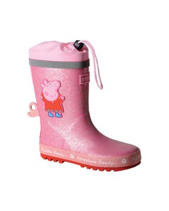Regatta Peppa Pig Puddle Wellington Boots - Peppa Pink.