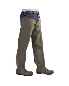 Amblers Adults Forth Thigh Safety Waders - Green