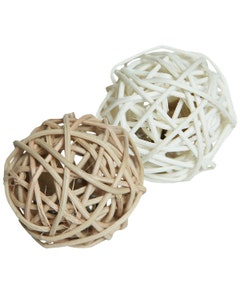 Rosewood Silverine Rattan Cat Toy Balls - 2 Pack