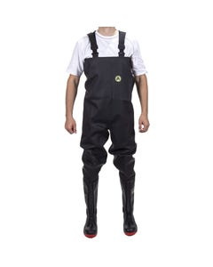 Amblers Adults Danube Chest Safety Waders - Black