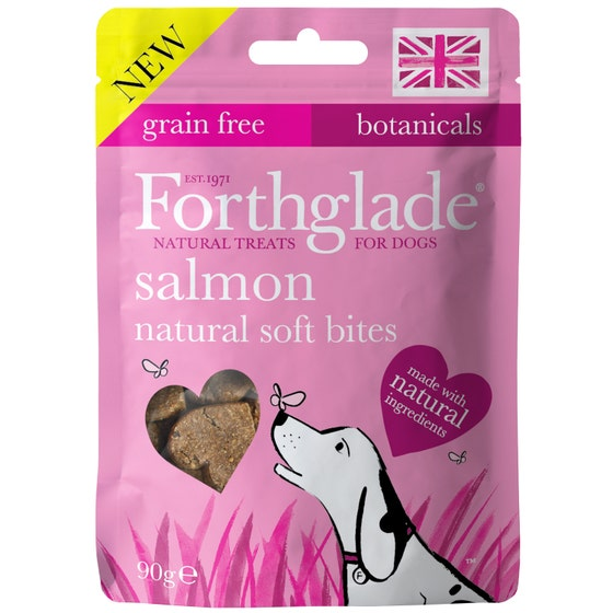 An image of Forthglade Natural Soft Bites With Salmon Dog Treats – 90g