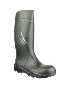 Dunlop Adults Purofort+ Full Safety Wellington Boots - Green