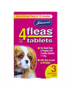 Johnson's 4Fleas Tablets Puppies & Small Dogs 3 Treatment Pack - 3 x 11.4mg