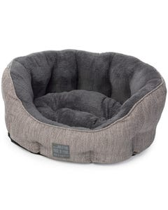 House of Paws Hessian Oval Dog Bed - Extra Small