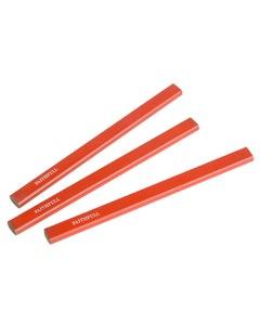 3 Medium Red Carpenter's Pencils