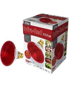 Intelec Ruby Red PAR38 Hard Glass Infra-Red Bulb - 175 Watt