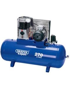 Draper 415V 270L Stationary Belt-Driven Air Compressor - 5.5kW