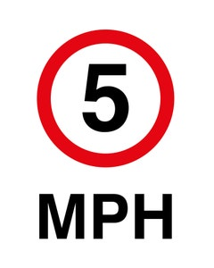 Raymac Signs 5mph Sign