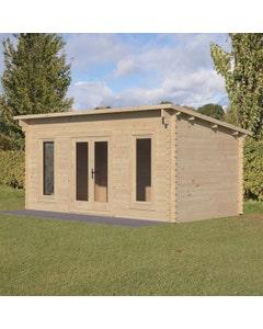 Forest Garden Elmley D/G Log Cabin 5m x 3m 24kg F/R N/U - Unassembled