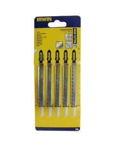 Irwin Jigsaw T301CD Wood Cutting Blades 100mm - 5 Pack