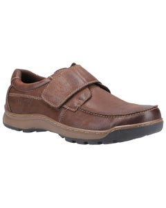 Hush Puppies Mens Casper Touch Fastening Shoes - Brown