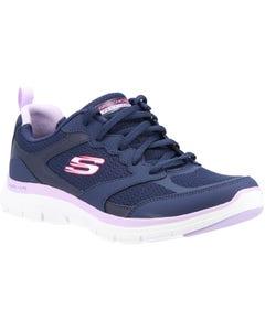 Skechers Ladies Flex Appeal 4.0 Active Flow Sport Shoes - Navy